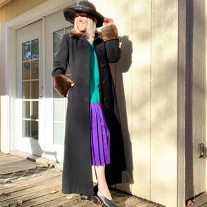 Isaac Mizrahi Wool Angora Full Length Fitted Coat